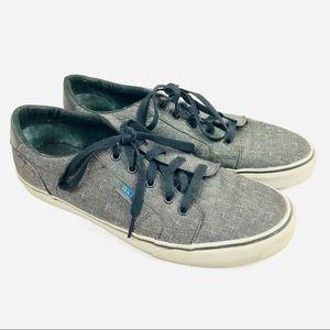 VANS denim blue gray skate low top lace up sneaker